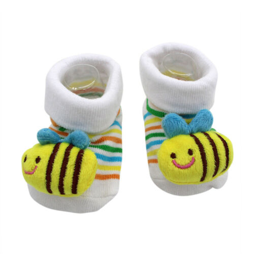 Infant Newborn Baby Girls Boys Anti-Slip Socks Slipper Shoes Boots 0-12 Months A