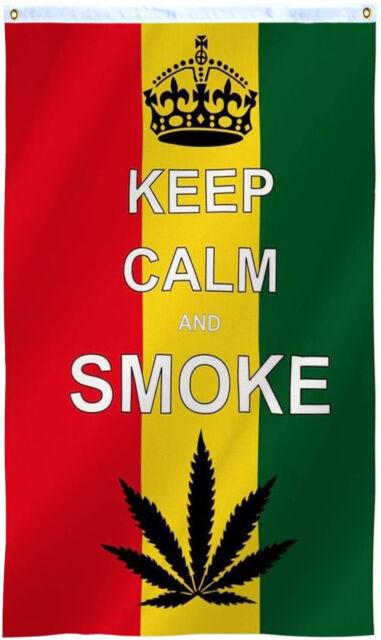 Marijuana Flag Large 5ft x 3ft
