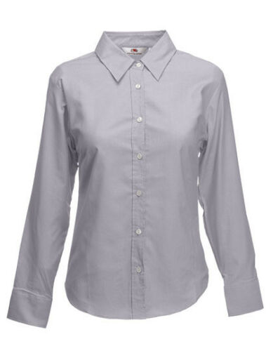 Fruit of the Loom Long Sleeve Oxford Shirt Lady-Fit Damen XS 3XL F700