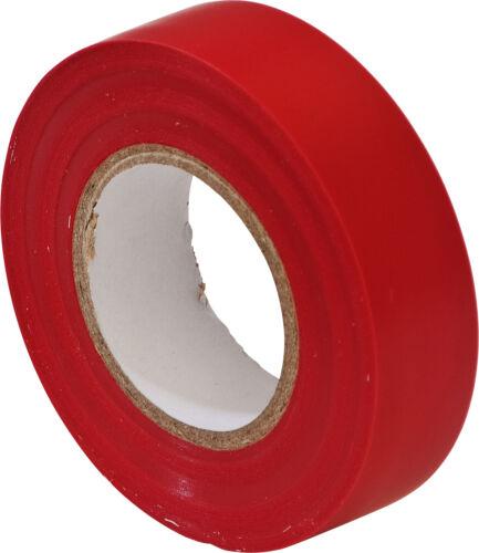 Rouge électrique pvc isolation//ruban isolant 19mm x 20m retardateur de flamme