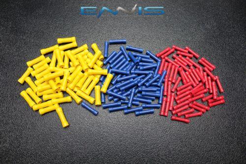 300 PK 18-22 GAUGE VINYL RING CONNECTORS 100 PCS EA TERMINAL CRIMP 1//4 5//16 3//8