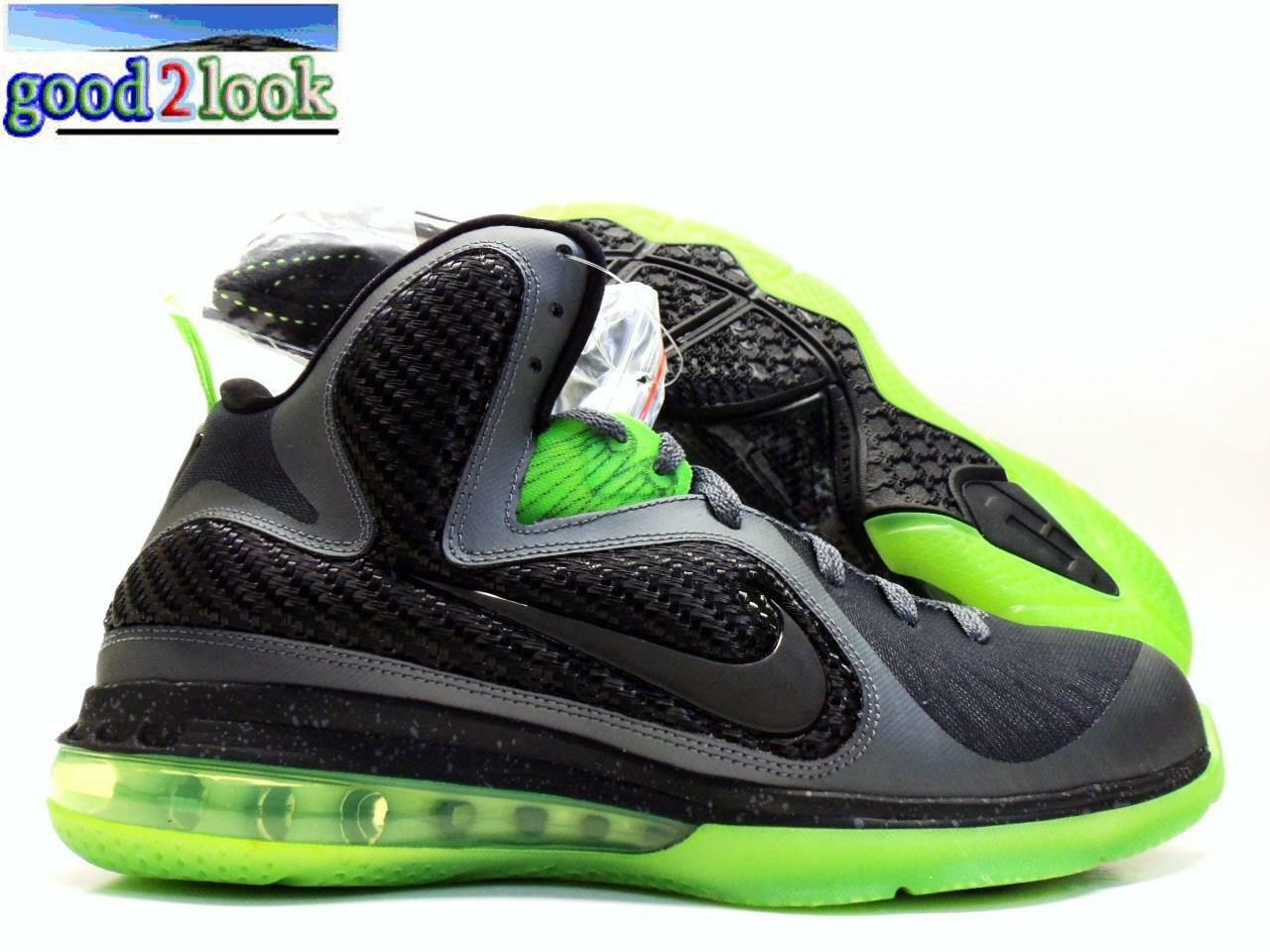 Nike lebron 9 dunkman grigio scuro / nero-volt dunkman dimensioni uomini 10 [469764-006]