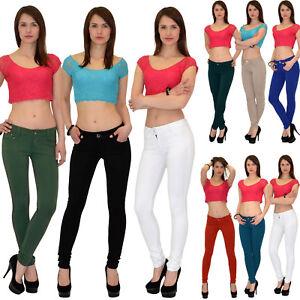 Damenhose-Roehrenhose-Damen-Hose-Treggings-Roehre-Stretch-bis-Ubergroesse-50-T01