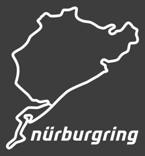 car decal race motorsport nordschleife neverbeen trackday Nurburgring Sticker
