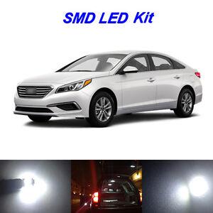 10 X White Led Bulbs For 2011 2017 Hyundai Sonata License Plate Interior Light Ebay
