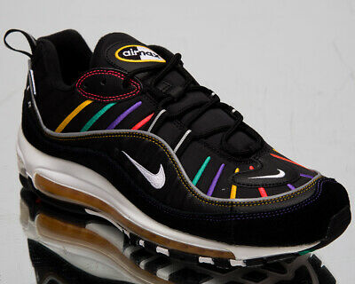 Nike Air Max 98 Premium Homme Noir Multicolore Décontracté Mode de Vie Baskets | eBay