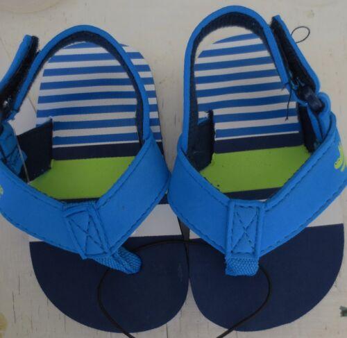 NEW Infant toddler 6-9*9-12*12-18 months CROCODILE Sandals Flip Flops Shoes Blue