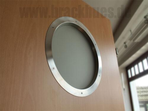 VSG Glas Bullauge Türbullauge Türfenster Rundfenster Edelstahl V2A Ø350mm inkl