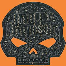 HARLEY DAVIDSON Studded Ornate Willie G Skull Large Patch 8 INCH HARLEY PATCH