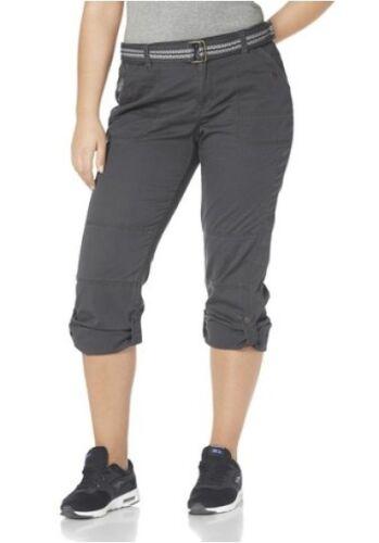 Kangaroos Hose mit Gürtel Gr.42,44,46,48,52 NEU Damen Pants Anthrazit Grau L32