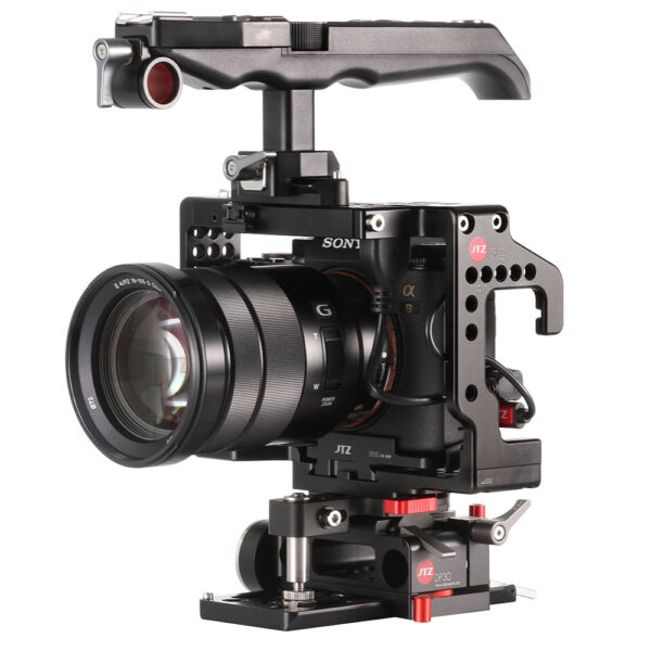Bien éDuqué Jtz Dp30 Caméra Vidéo Cage Plaque Haut Poignée Pour Sony Alpha A9 A7iii 15 Mm Rod En Quantité LimitéE