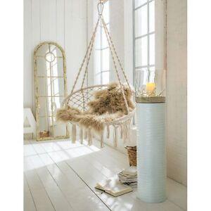sessel h ngesessel mit kissen zur deckenbefestigung 80 cm baumwolle ebay. Black Bedroom Furniture Sets. Home Design Ideas