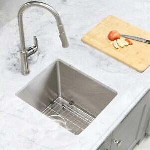 "14""L x 18""W Stainless Steel Single Basin Undermount Bar Sink"