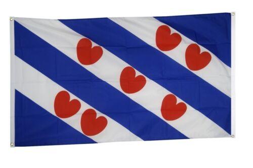 BALKONFLAGGE BALKONFAHNE Niederlande Friesland Flagge Fahne für den BALKON 90x15