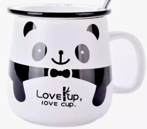 Love-Up-Love-Cup-Panda-Ceramic-Teacup-Mug-W-Lid-amp-Teaspoon-Gift-Boxed-Brand-New