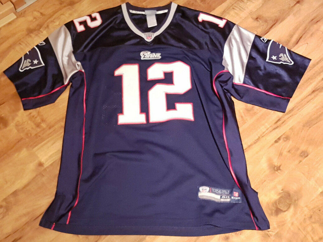 NFL New England Patriots Trikot US-Gr. 46 46 46 (ca. XL) mit Patches  Tom Brady  4ba504