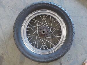 Details about 71 -79 Vintage Harley Sportster Ironhead Rear Wheel w/ Tire  16'' 16X3 3/4'' axle