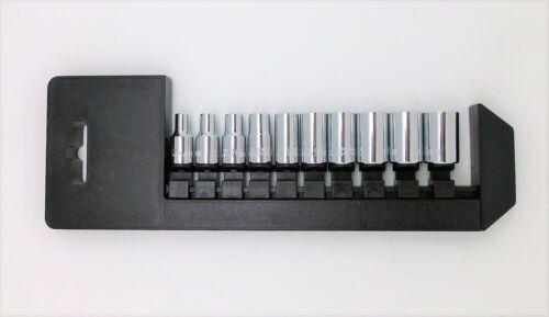 """10 PC 1//4/"""" Drive 6 PT Socket Set Metric H21-003A"""