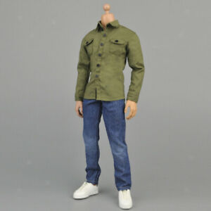 1-6-Army-Green-Shirt-amp-Jeans-pour-12-034-Action-Figure-Hot-Toys-Sideshow