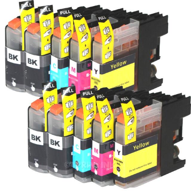 10 Pk LC-103 LC103 XL Ink Fits Brother MFC-J245 MFC-J285DW MFC-J450DW MFC-J470DW