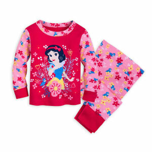 338d24045 Disney Snow White Princess Pajamas PJ s Baby Girls Size 0 3 6 9 12 ...