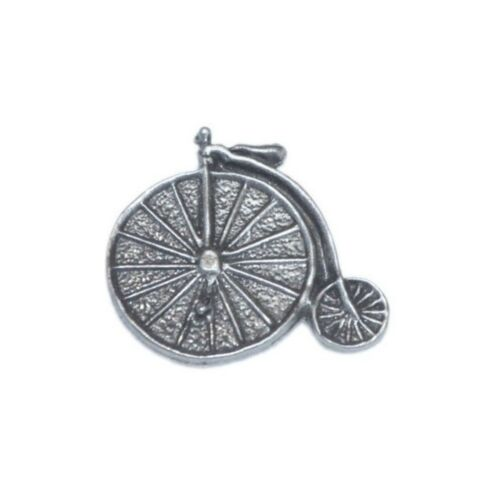 Penny Farthing Pewter Lapel Pin Badge Brooch Steampunk The Prisoner Bicycle Bike