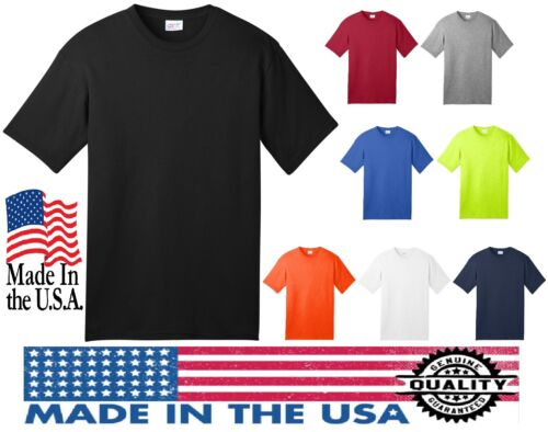 100/% MADE IN THE USA New Men/'s T-Shirt Sizes Small 4XL Adult All American Tee