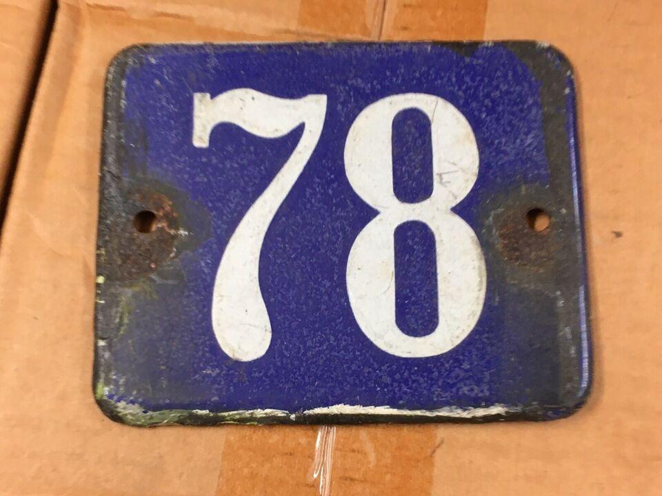 Skilte, Emaljeskilt med husnr 78