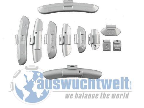 Acciaio Cerchioni zinco Masserelle di equilibratura colpo pesi pesi IN ZINCO 5-30g per 50 Pz