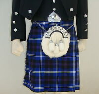 Scottish | Heritage Of Scotland Tartan Heavy Kilt & Kilt Pin | Geoffrey