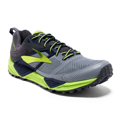 58e815aef440a Brooks CASCADIA 12 Men s Primer Grey anthracite lime Punch 2431d076 8.5 for  sale online