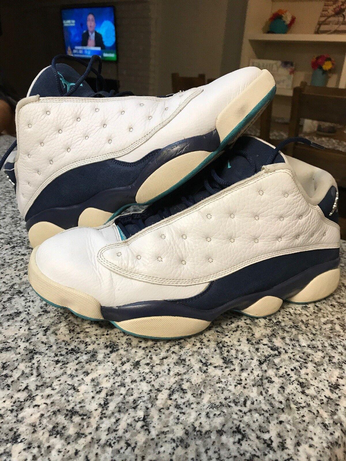 Nike air jordan 13 retro - niedrige hornissen weiß - silber - größe 10,5 (310810-107)