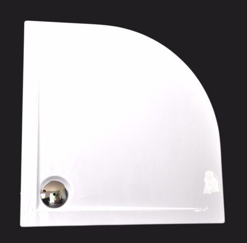 Ablauf Duschwanne Acryl Flache Duschtasse Viertelkreis Weiß; 80x80x3,5cm