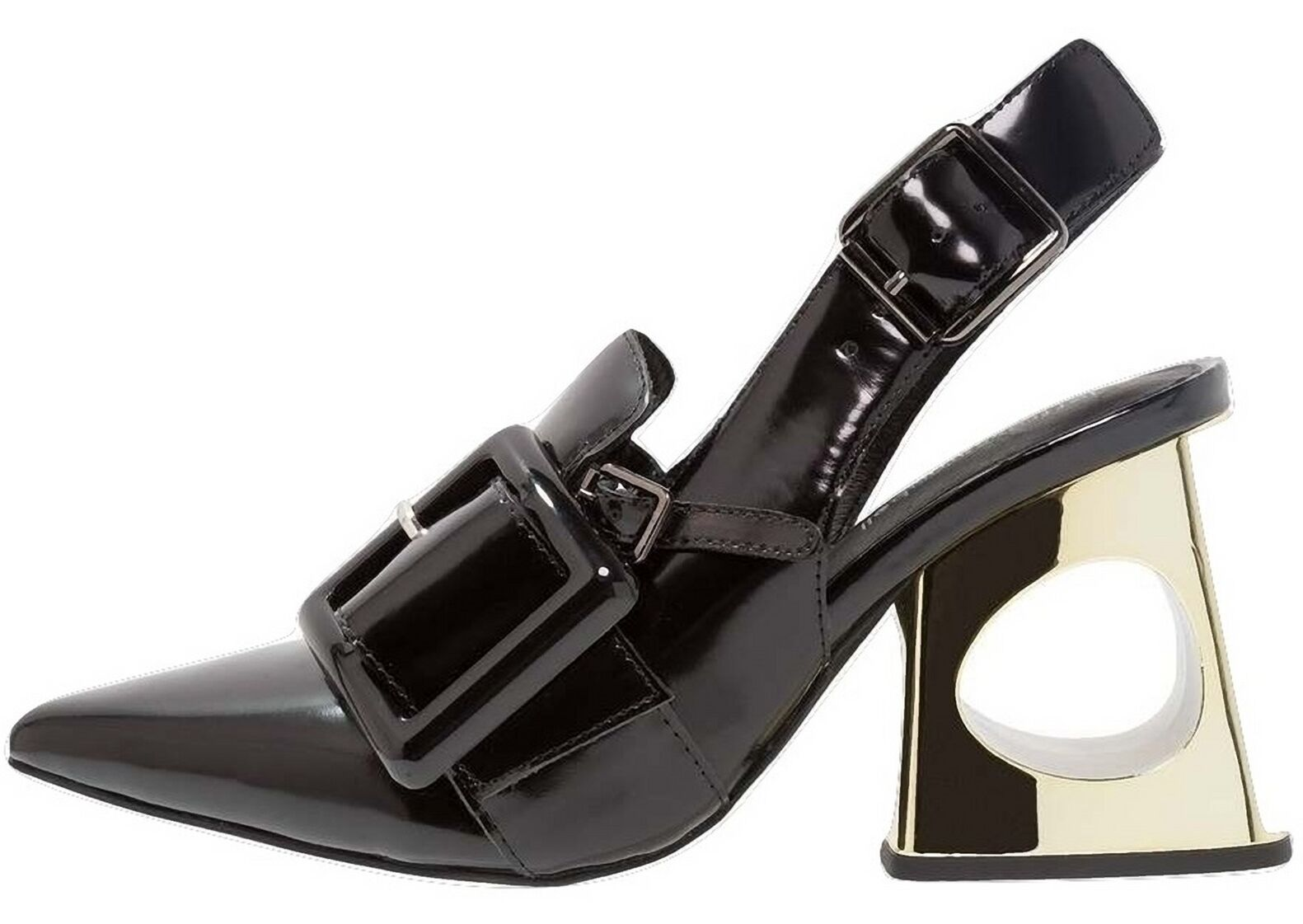 ORIGINALI DELVIDA  JEFFREY CAMPBELL  DELVIDA ORIGINALI BLACK BOX nere sandali scarpe donna tacchi 0d6660