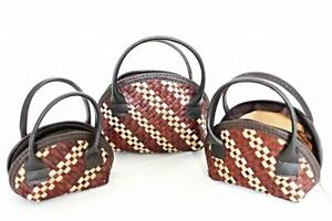 Small Purses (set of 3) Brown White