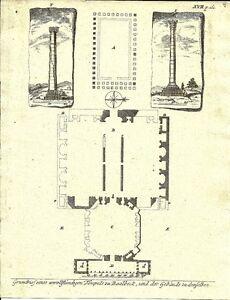 Antique-engraving-Temples-zu-Baalbeck-P-XVII