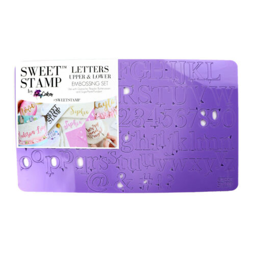 Sweet Stamp Set of Classic Upper /& Lower Case Letters Numbers /& Symbols