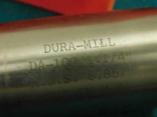 "Dura-Mill 1-1//4/"" x 4.0/"" LOC 1//8/"" End Radius HSS End Mill"