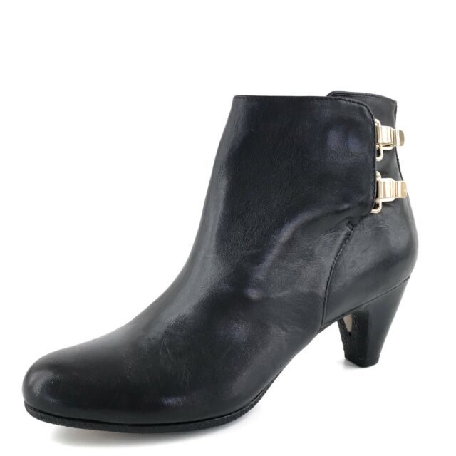 b238658bd3d413 Sam Edelman Marmont Black Leather Ankle Booties Womens Size 6.5 M New  160
