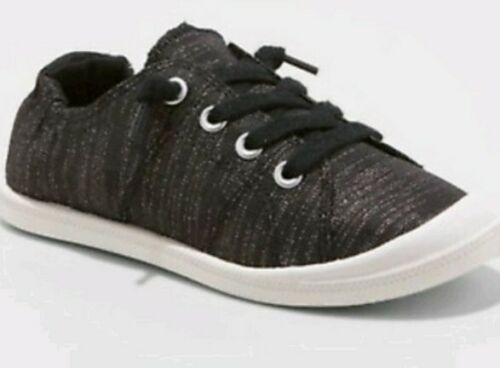 "Mad Love /""Shana/"" Glittery Black Scrunch Sneakers Girl/'s Size 3 or 13"