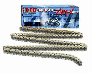 D.I.D DID 530 ZVMX Xring Drive Chain Gold Nickel or Natural W// Rivet Master Link