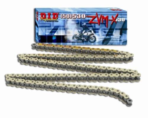 DID 520 ZVM-X GOLD X-RING CHAIN D.I.D 520 ZVMX 120 LINK