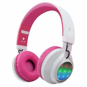 893fd10cbad Kids Bluetooth LED Light up Foldable Wireless Headphones in 3 ...