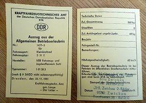 5-stk-blanko-DDR-Betriebserlaubnis-SIMSON-S51E-KTa-Nr-1477-5-ENDURO-ABE-Papier