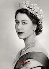 "HM QUEEN ELIZABETH II 1952 A4 GLOSSY PHOTO REPRINT NEW 11.75"" X 8.35"" A4 #1"