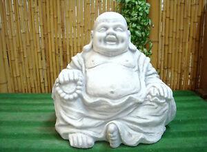 Buddha sitzend aus steinguss frostfest neu f r garten - Buddha fur garten ...