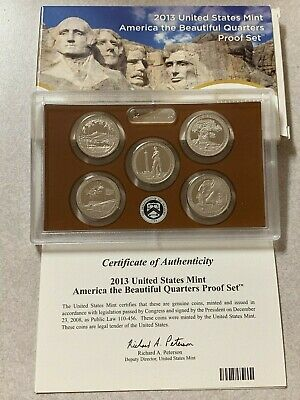 Mint CLAD America the Beautiful Quarters Proof Set. 2014 U.S