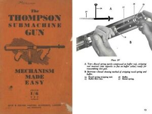 Thompson c1950 Submachine Gun M1928 Manual (UK) | eBay