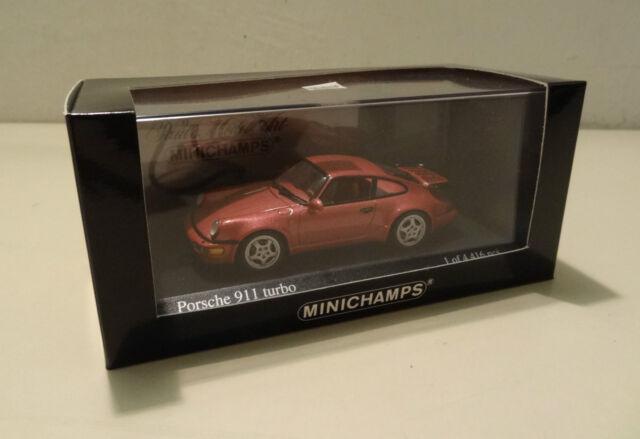 Porsche 911 Turbo Tipo 964-1990 Rojo Metálico - Minichamps 1:43