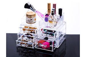 Organizer cosmetici box portatrucco portagioie cosmetici trucco 5 cassetti
